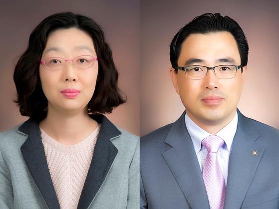 왼쪽부터 신경옥, 한경식 교수