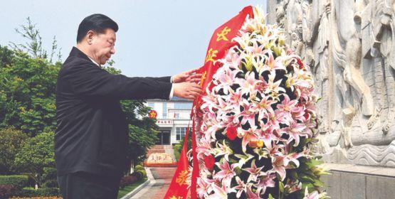 시진핑, 대장정 기념비서 '항미 대장정' 시사