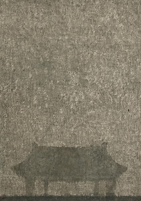 강미선, '觀心-부석사'(2019, 한지에 수묵, 132*93cm). [사진 아트사이드 갤러리]