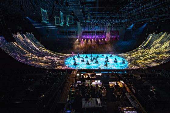 국립아시아문화전당의 '렉스:불멸이 힘' 쇼케이스 장면. 본 공연은 12월이다. [사진 ACC]
