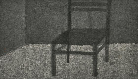 강미선, '觀心-의자'(2019, 한지에 수묵, 71.5 X123cm). [사진 아트사이드]