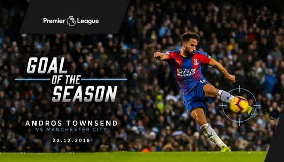 크리스탈 팰리스 앤드로스 타운센트가 2018-19시즌 잉글랜드 프리미어리그 최고의 골 수상자로 선정됐다. [사진 잉글랜드 프리미어리그 홈페이지]