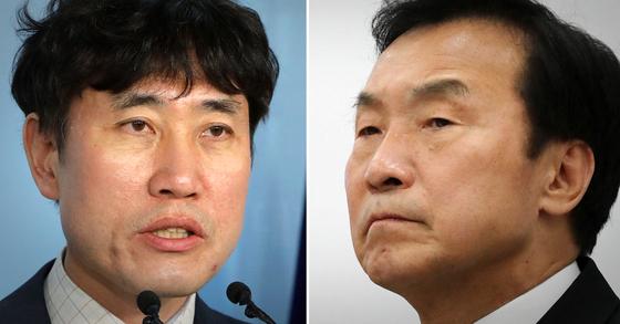 하태경 바른미래당 최고위원, 손학규 바른미래당 대표. [중앙포토·연합뉴스]
