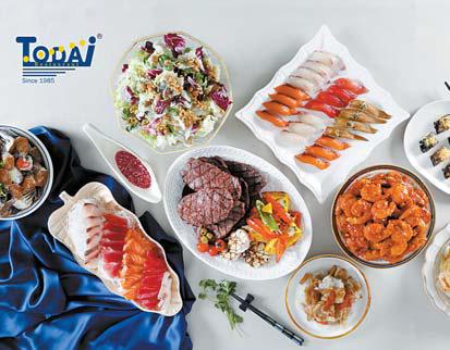 토다이는 신선한 천연 재료로 맛을 내는 씨푸드 레스토랑이다. [사진 토다이코리아]