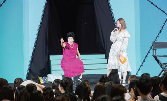 박막례 할머니는 CJ ENM에서 주최하는 아시아 최대 1인 창작자 축제에 2년 연속 참여해 팬들과 만남을 가졌다./사진:CJ