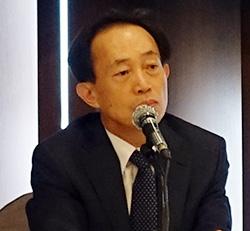 박대연 티맥스 회장이 23일 서울 프레스센터에서 열린 기자간담회에서 기자들의 질의응답에 답변하고 있다. [사진 티맥스]