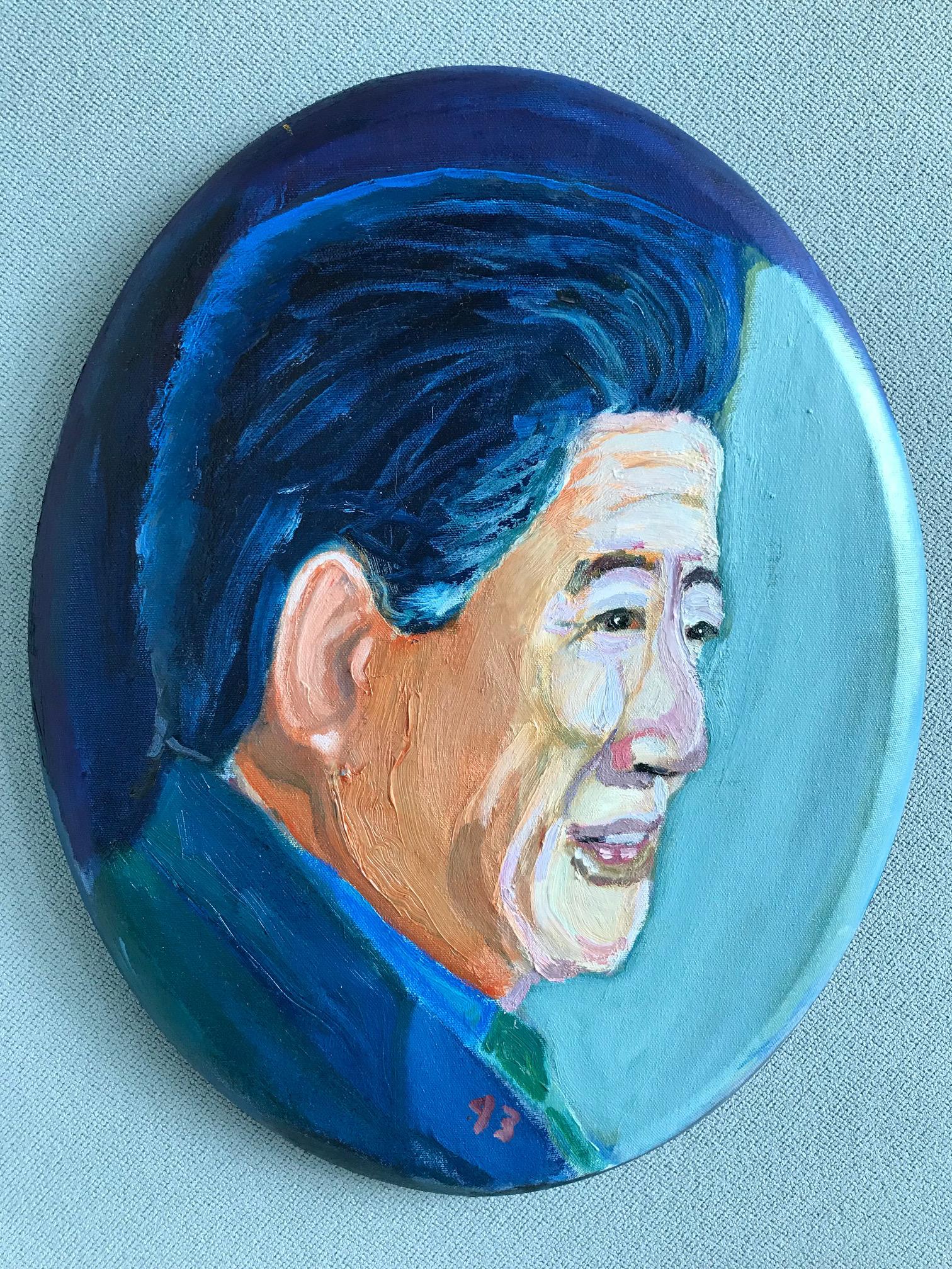 조지 W 부시 전 미국 대통령이 직접 그린 고 노무현 대통령 초상화. [사진 노무현재단]
