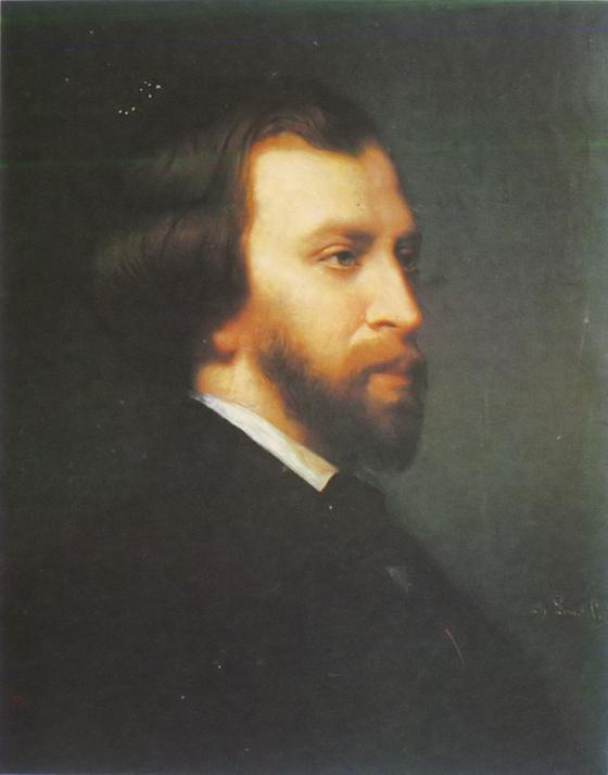 알프레드 드 뮈세. 프랑스의 대표적인 낭만주의 시인인 그는 상드와 광적인 사랑에 빠졌다. Charles Landelle, 베르사유 궁 소장. [그림 Wikimedia Commons(Public Domain)]