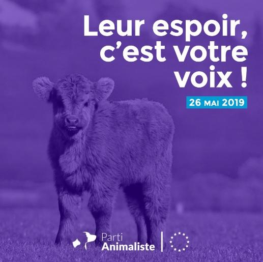프랑스 동물당(Parti Animaliste)의 선거 포스터. [당 홈페이지]