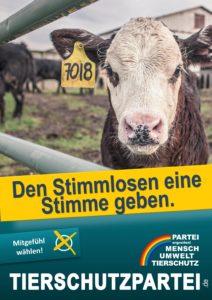독일 동물당(Partei Mensch Umwelt Tierschutz) 선거 포스터. [당 홈페이지]