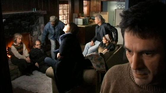 후기 구석기시절부터 살아온 '존 올드먼'이 주인공으로 나오는 SF영화 '맨 프럼 어스'의 한 장면. 올드먼은 송별회에서 자신의 정체를 밝히고 동료들의 추궁을 당한다. [사진 Youtube 캡처]