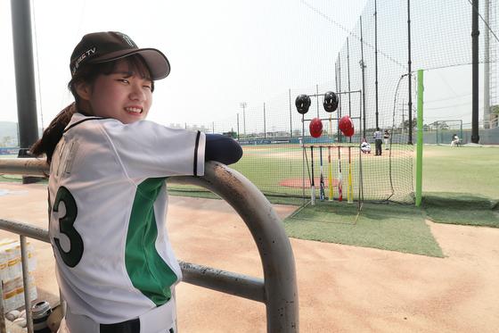 신입생 이윤주 선수는 이날이 데뷔전이었다. 장진영 기자