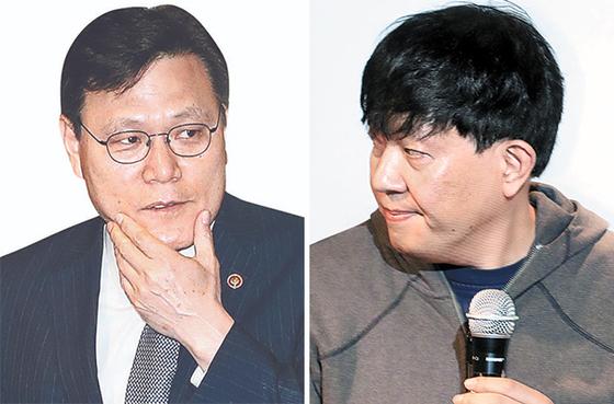 최종구(左), 이재웅(右)