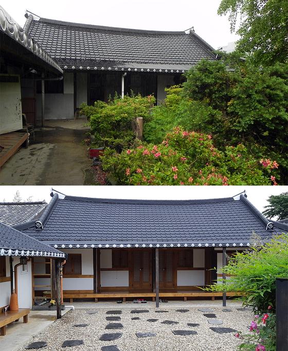 2011년 처음 집을 샀을 때의 모습(위)과 최근의 모습(아래). 지은 지 60년 된 집이다. [사진 박헌정]