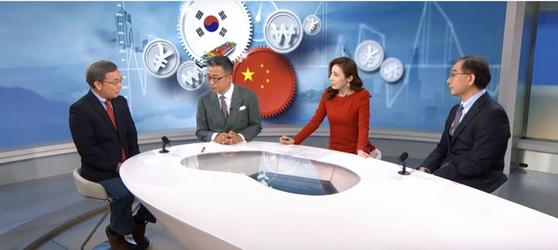 아리랑TV와 중국 국제방송 CGNT이 공동제작한 특별대담 'S.Korea-China Ties 2019'의 한 장면. [아리랑TV]
