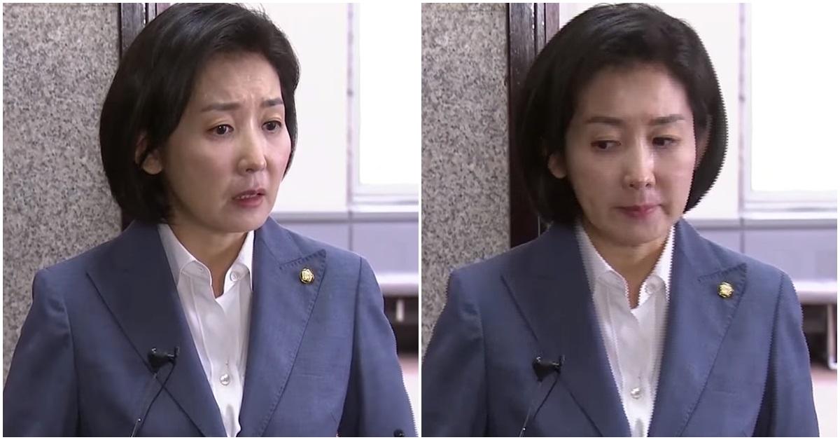 나경원 자유한국당 원내대표. [사진 연합뉴스 영상 캡처]