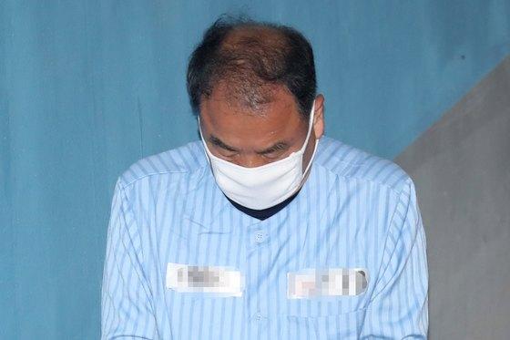 '뇌물·불법 정치자금' 혐의로 구속된 이우현 자유한국당 의원.[뉴스1]