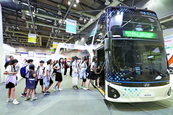 2층 전기 버스