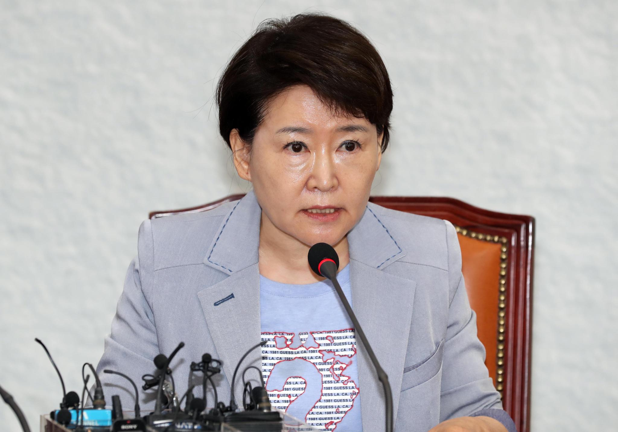 바른미래당 최고위원회의가 3일 국회에서 열렸다. 권은희 최고위원이 발언하고 있다. 변선구 기자