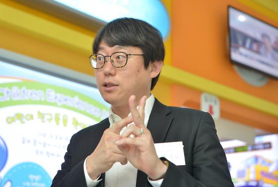 에이유디(AUD) 사회적협동조합 박원진 이사장이 31일 한국잡월드에서 중앙일보와 인터뷰하고 있다. [사진 SK C&C]