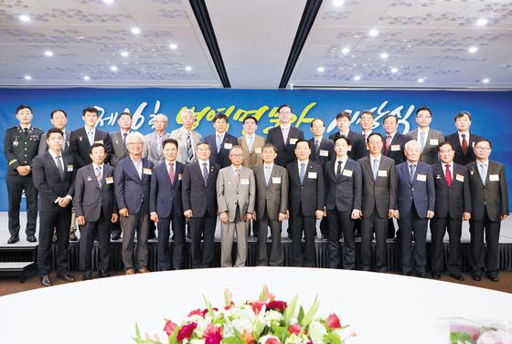 '제16회 병역명문가' 수상자들. [사진 병무청]