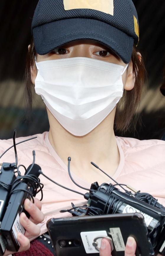 마약 투약 혐의로 구속돼 경찰 수사를 받아온 남양유업 창업주의 외손녀 황하나씨. [연합뉴스]