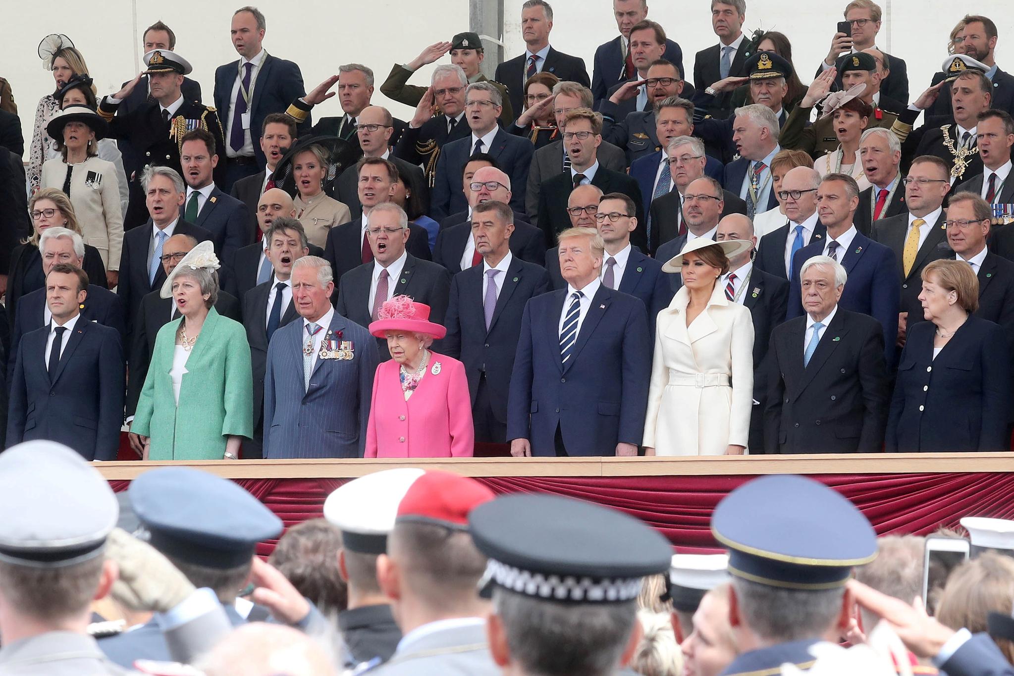 영국 남부 포츠머스에서 열린 D-day 75주년 기념행사. 16개국 지도자들이 참석했다. [Reuters=연합뉴스]