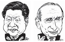 시진핑(左), 푸틴(右)