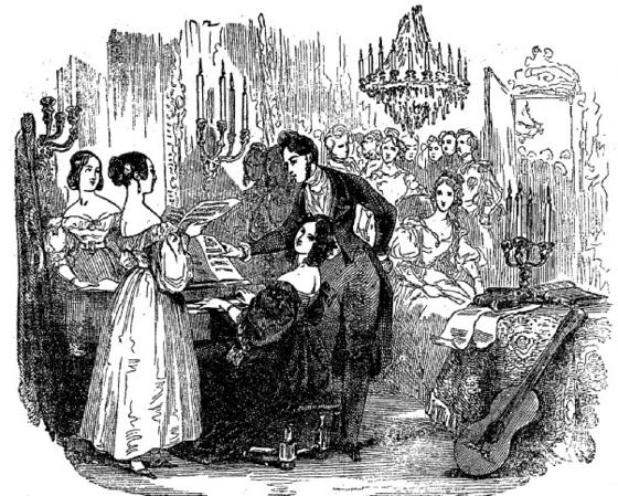 음악잡지 '로망스(La Romance, Journal de Musique)'의 삽화. 1835, 프랑스 국립 도서관 소장.