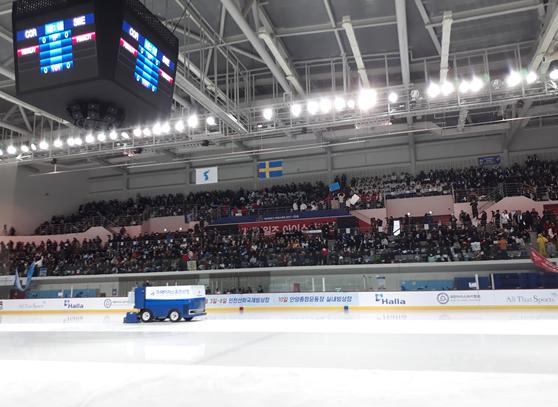 2018년 2월 4일 여자아이스하키 국가대표 평가전 남북단일팀 VS 스웨덴