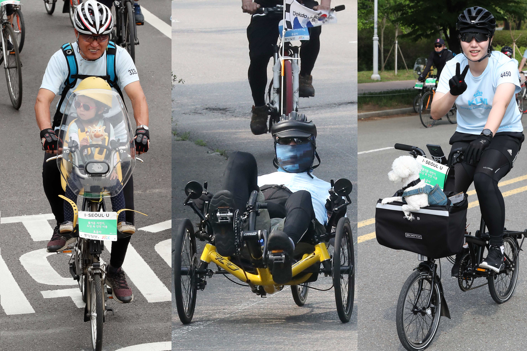 2019 서울자전거대행진이 9일 오전 중앙일보,JTBC,위스타트 공동주최로 6000여명이 시민들이 참가해 서울 도심에서 열렸다. 이날 참가자들이 각자의 쓰임에 걸맞는 형태의 자전거를 타고 도심을 달리고 있다. 우상조 기자