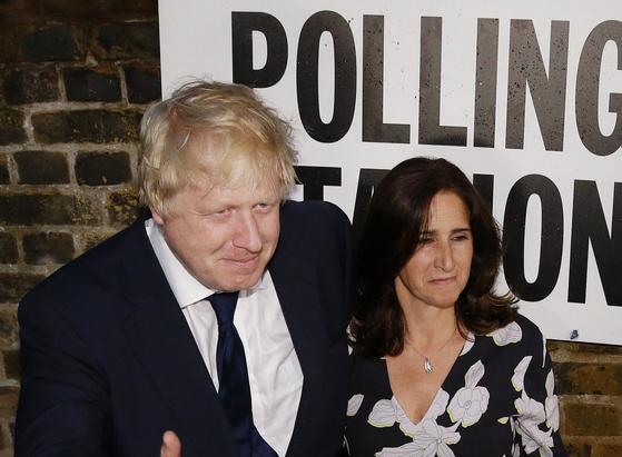 지난 2016년 보리스 존슨 영국 전 외무장관과 그의 두 번째 전 부인인 마리나 휠러.[AP=연합뉴스]