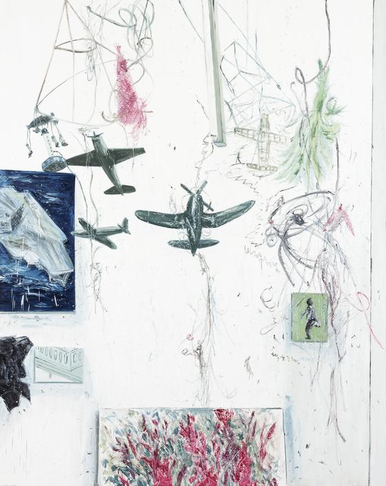 김지원, '비행'(2014, 린넨에 오일, 228x182cm). [사진 PKM갤러리]