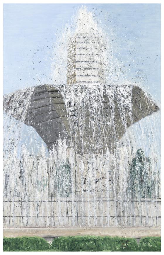 김지원, '풍경' (2018, 린넨에 오일, 228x145cm).[사진 PKM갤러리]