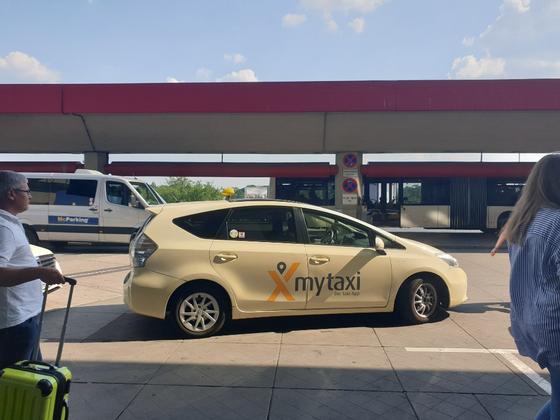 독일 대기업 다임러가 제공하는 택시 호출 서비스 '마이택시(My taxi). 베를린=김도년 기자