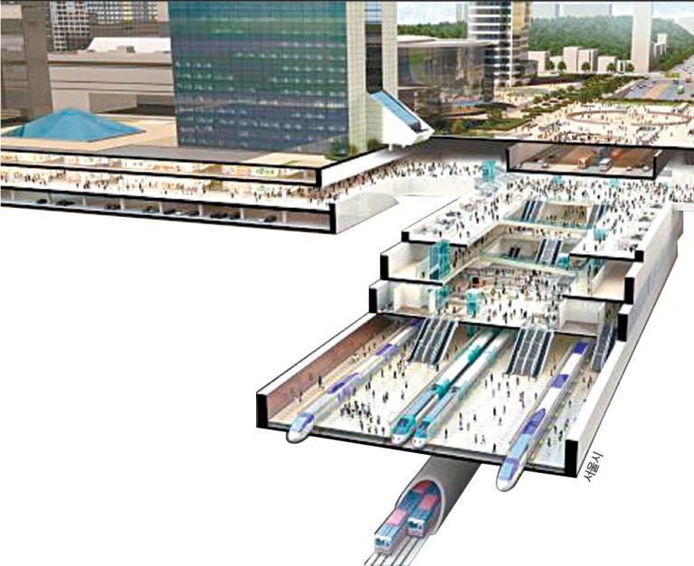 강남권 광역복합환승센터 건립 계획이 국토부의 승인을 받았다. [자료 서울시]
