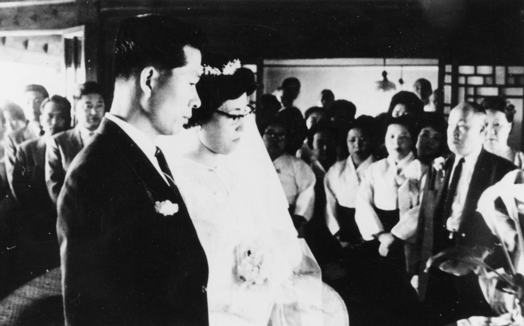 1962년 5월 김대중 전 대통령과 이희호 여사의 결혼식. [중앙포토]