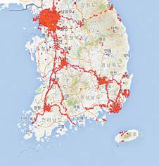 국내 5G 커버리지 현황 : KT (6월 7일 기준)