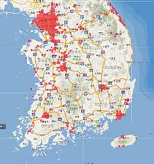 국내 5G 커버리지 현황 : LG유플러스 (6월 7일 기준)