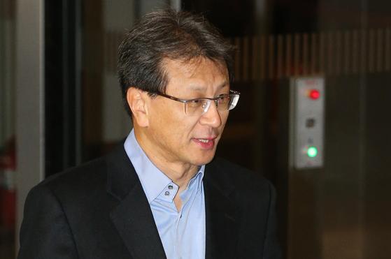2015년 12월 삼성 사장단 회의에 참석하는 정현호 삼성전자 사업지원TF 사장. [연합뉴스]