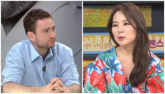 다니엘 튜더(왼쪽), 곽정은. [사진 JTBC·MBC에브리원]