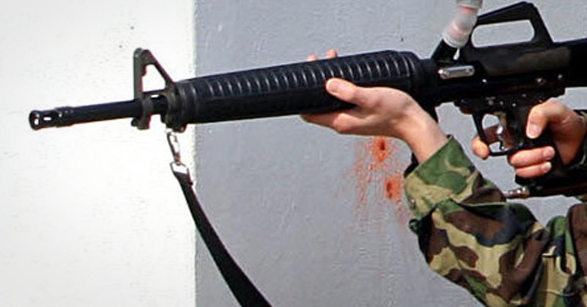 M16형 서바이벌 소총. [연합뉴스]