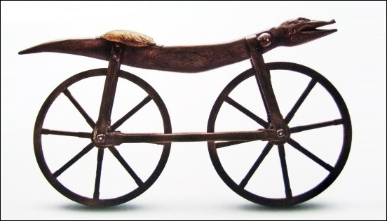 1791년 등장한 자전거와 흡사한 '셀레리페르'. [중앙포토]