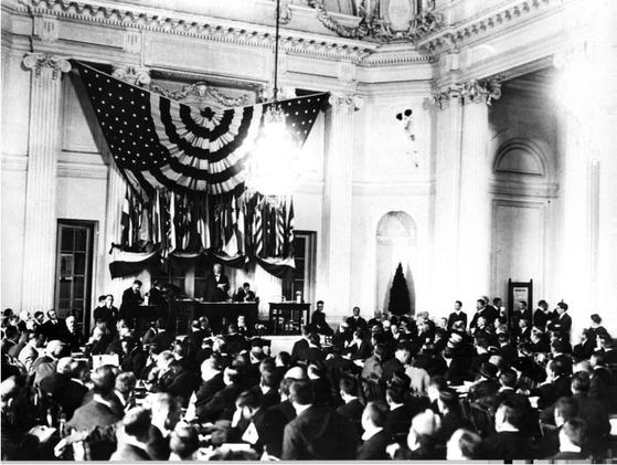 1919년 10월 미국 워싱턴에서 열린 ILO 첫 총회. [사진 국제노동기구]