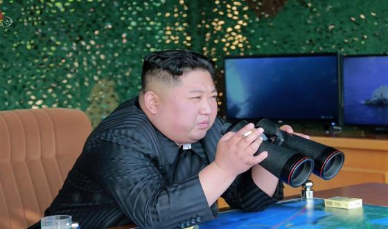 김정은 북한 국무위원장. [조선중앙TV 캡처=연합뉴스]