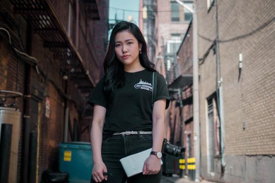 홍콩 출신으로 미국에서 유학중인 대학생 프란시스 후이의 모습. 그가 입고 있는 티셔츠에는 '나는 홍콩인이다'는 문구가 영어로 쓰여있다. [사진 사우스차이나모닝포스트 홈페이지]