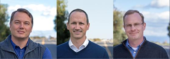 오로라는 자율주행 기술분야 '슈퍼스타'들이 설립한 테크 스타트업이다. 왼쪽부터 크리스 엄슨 CEO. 스털링 CPO, 드류 배그널 CTO. [오로라 홈페이지 캡처]