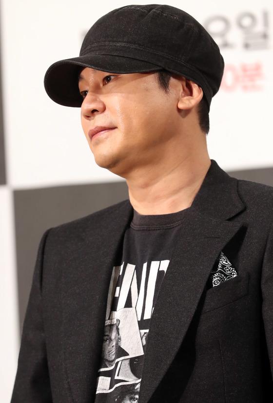 14일 사퇴를 발표한 양현석 YG엔터테인먼트 대표 프로듀서. [일간스포츠]