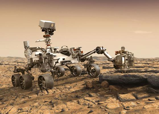 마스 2020은 김헌주 연구원이 개발중인 튜브를 이용해 샘플을 채취한다. [사진 NASA/JPL]