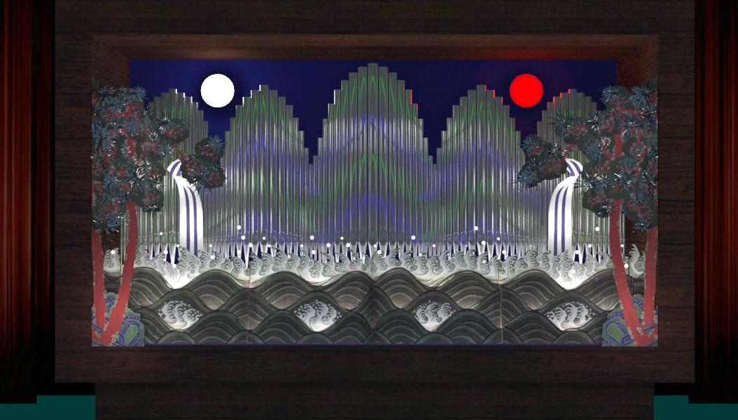 일월오봉도. 왕이 있는 곳에는 항상 이 그림이 있었다. 홍성훈씨는 언젠가는 이런 모습의 파이프오르간을 만들 계획이다.